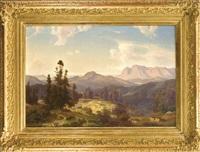 herrliches panorama einer landschaft in den dolomiten by cäsar metz