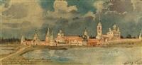 ansicht eines russisch-orthodoxen klosters by nicolas andreev