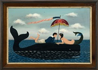 lovers on the back of a whale by ralph eugene cahoon jr.