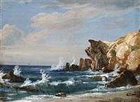 küstenlandschaft auf capri by johann-rudolph buhlmann