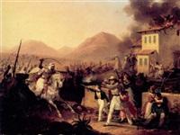 beduiner angriber europæiske tilflyttere, der forsvarer deres bolig by hippolyte lecomte