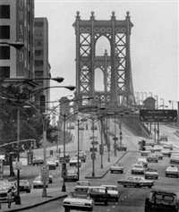 manhattan bridge, new york by klaus lehnartz