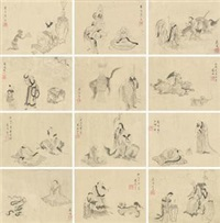 人物 (一件) (album of 12) by jiang lian