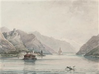 view on the rhine by henry courtney selous