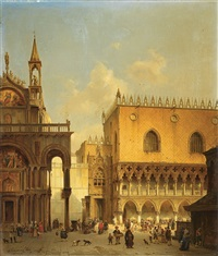 am markusplatz in venedig by ivo ambroise vermeersch