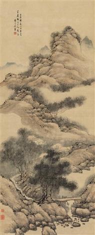 松荫古渡 landscape by fa ruozhen
