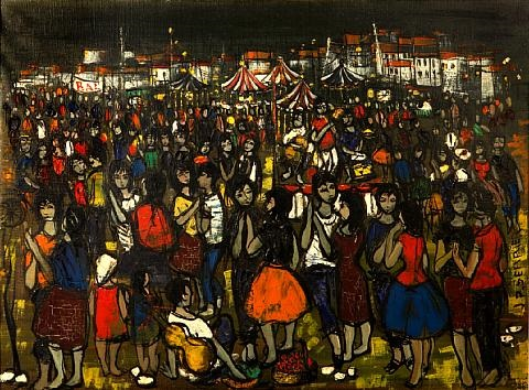 la fête au village by jean pierre serrier