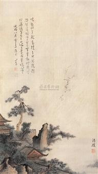 殿阁松风 (landscape) by luo qingyuan