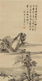 拟云林笔意 (landscape) by jiang jiapu