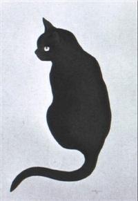 schwarze katze by hans rüttimann