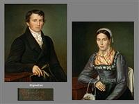 portrait eines mannes (+ potrait seiner frau; pair) by joseph anton rhomberg