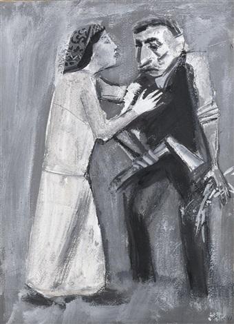 uomo con donna by mario sironi