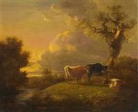 kühe auf der weide by abraham van stry the elder