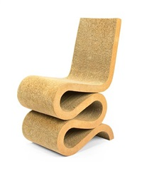 wiggle chair (from easy edges) by frank gehry