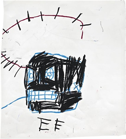 untitled crown of thorns by jean michel basquiat