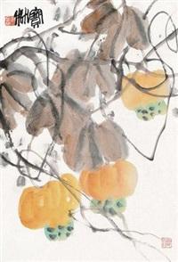 葫芦 镜片 设色纸本 by jiang baolin