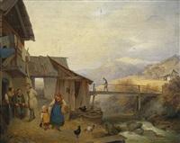 bauernhofidylle in den alpen by ignaz raffalt