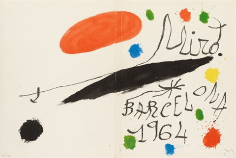 album 19 miró obra inèdita recent 1964 portfolio of 16 wcolophon text by joan miró