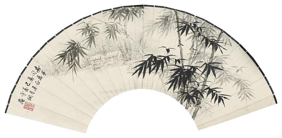 竹居图 by liang ji