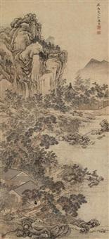 鹤庭闲步 (landscape) by leng qian