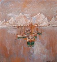 fiskebåtar vid lofoten by rikard lindström