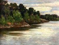 riverbank landscape by grigor auer