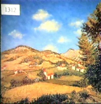 impressionistic country landscape by fleury