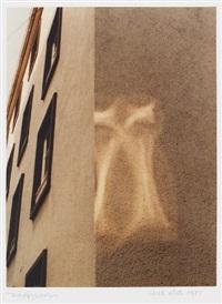 optische delicatessen - das ei (+ lichtfiguration (aus zyklus - bilder des vor-scheins), 1985; 2 works) by walde huth