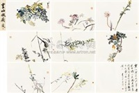 灵山掇英 (album of flowers) (album w/8 works) by xu jianwei