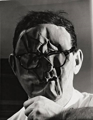 untitled (self portrait with mask), new york by erwin blumenfeld