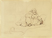 turc assis by théodore géricault