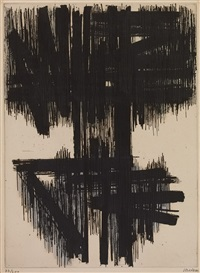 eau-forte n° 6 by pierre soulages