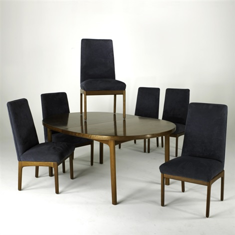 extension dining table and tall back chairs 7 works by folke ohlsson
