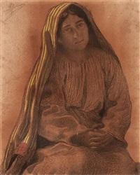 una niña by joan llimona y bruguera