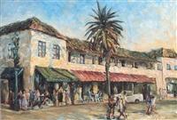 santa barbara street scene by joseph areno