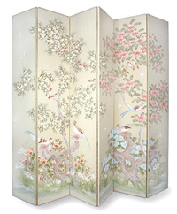 six-panel japanese style floor screen by robert crowder