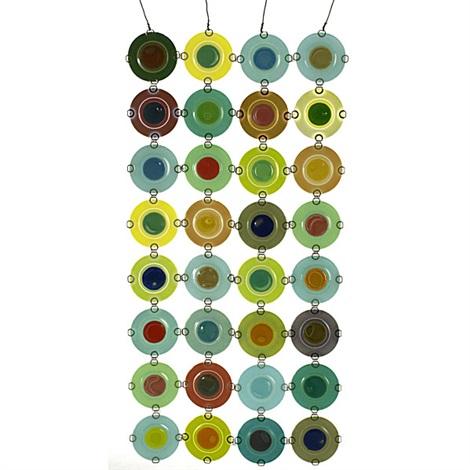rondelay screen w/ discs by higgins glass studio