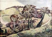 the chilterns 1923 by paul nash