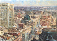 one wilshire and old los angeles rooftops (from the 29th floor of the m.c.i. building) by joseph areno