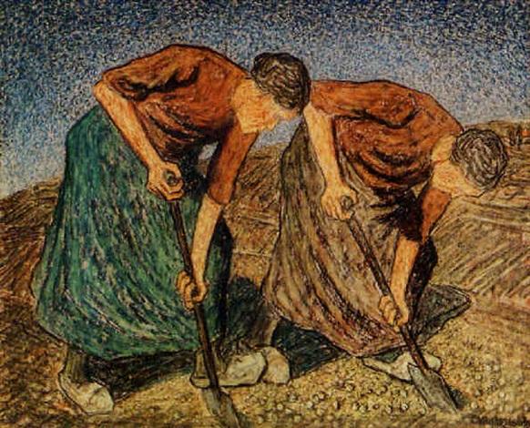 two peasants at work by cornelis albert van assendelft