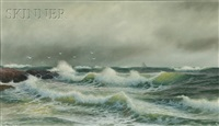 nahant storm by george howell gay