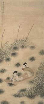 采菱图 by fei danxu