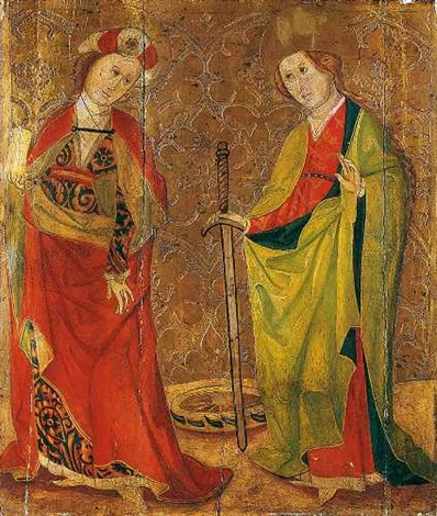 die heiligen magdalena und katharina by german school southern 15
