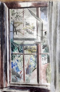 view from a window by paul nash