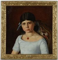portrait de jeune fille by armand hubert simon leleux