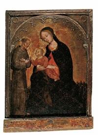 madonna mit kind und hl. franziskus by ottaviano nelli