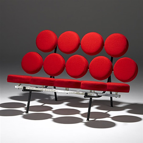 Marshmallow Sofa (upholstery By Alexander Girard) By George Nelson