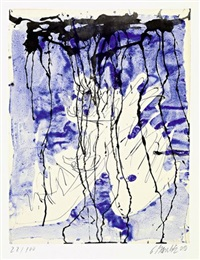 untitled (adler) by georg baselitz