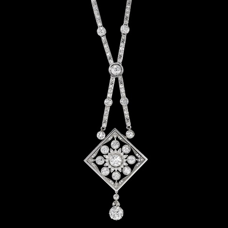collier 18 k white gold