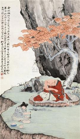 the luohan by zhang daqian